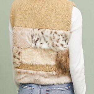 Anthropologie Jackets & Coats - Anthropologie MIXED FAUX FUR VEST new